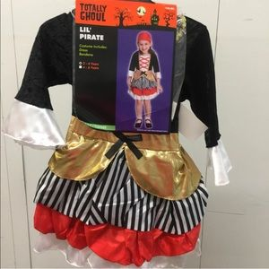 Lil Pirate Dress Costume Girls 4-6 Youth New